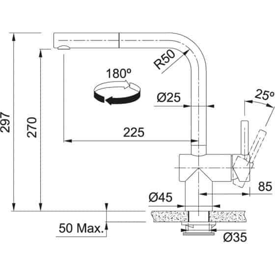 Franke Atlas Néo Sensor à douchette