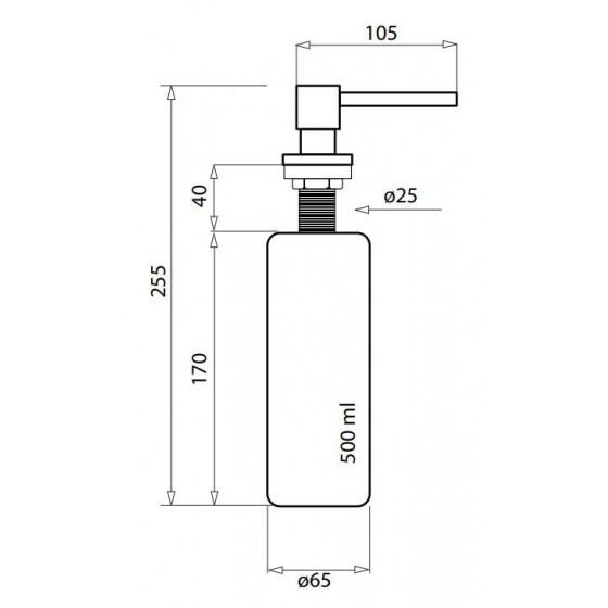 Aquasanita DQ-001 - Distributeur de savon